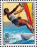 From US-sheet / Du Feuillet Des E.U. / Aus USA Bogen ATLANTA 1996 : SAILBOARDING (32c ** Postfrisch MNH) - Skateboard