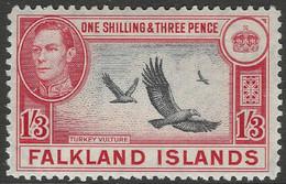 Falkland Islands. 1938-50 KGVI. 1/3 MH. SG 159 - Islas Malvinas