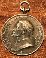 St Franciscus Seraphicus Signed Kissing Métal Argenté Très Belle Gravure (prix Fixe) - Jetons & Médailles
