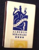 SCATOLA FIAMMIFERI  CON PUBBLICITA' POSITANO ALBERGO MIRAMARE - Advertising