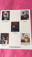 Yves Saint Laurent - Parfumkaarten