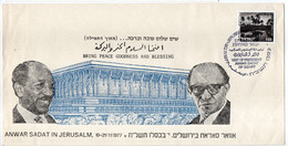 ANWAR SADAT IN JERUSALEM 1977 - Covers & Documents