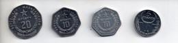 REF MON2  : Lot 4 Monnaies Madagasgar 5 Aiary 1996 10 Aiary 1999 10 Aiary 1992 20 Aiary 1999 - Madagascar