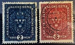 AUSTRIA 1916 - Canceled - ANK 200 I, 201 I - 2K 3K - Used Stamps