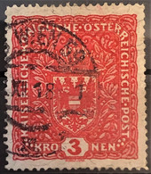 AUSTRIA 1917 - Canceled - ANK 204z II - 3K - Used Stamps