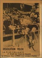 N°2165 RRR DID4 PUBLICITE VELOX CYCLISME TOUR DE FRANCE 3ème ETAPE GUY LAPEBIE VAINQUEUR ARRIVEE A NANTES - Radsport