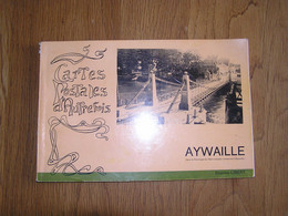 AYWAILLE CARTES POSTALES D' AUTREFOIS Régionalisme Amblève Hotel Inondations Gare Kiosque Attelage Chevaux Gare Café - Belgio