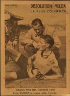 N°2173 RRR DID4 PUBLICITE VELOX CYCLISME GRAND PRIX DES NATIONS 1948 FERDI KUBLER SE REPOSE ARRIVEE - Radsport