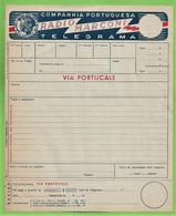 História Postal - Filatelia - Telegrama - Rádio Marconi - Telegram - Philately - Portugal - Covers & Documents
