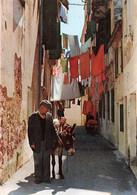 Grece Corfou Corfu Petite Rue Small Street Homme Et Ane - Grecia