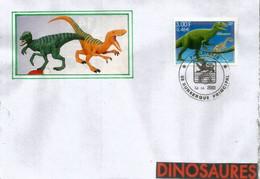 FRANCE.  Lézard Allosaure (Dinosaure Du Jurassique) ,  Sur Lettre - Other