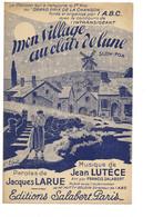 """Partition 4 Feuillets (vers 1940-50) -""""mon Village Au Clair De Lune"""" P: J. LARUE M: J. LUTECE - Music & Instruments"""