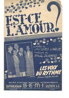 """Partition 4 Feuillets (vers 1940-50) -""""Est Ce L'amour"""" P:: François LARUE M:Paul DURAND (Les Voix Du Rythme) - Music & Instruments"""