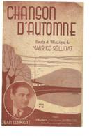 """Partition 4 Feuillets (vers 1940-50) -""""""""chanson D'automne"""" P Et M: Maurice ROLLINAT (Jean Clément) - Music & Instruments"""