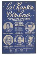 """Partition 4 Feuillets (vers 1940-50) -""""la Chanson Du Bonheur"""" P: Francis BLANCHE, M: Agustin LARA (Pierre ARRAS ...) - Music & Instruments"""