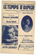 """Partition 4 Feuillets (vers 1940-50) -""""le Temps D'aimer"""" P: CHARLYS M: Léon RAITER Et Sylvain RAITER (Robert Léonard ..) - Music & Instruments"""