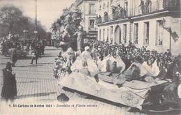 EVENEMENTS FETES - MI CAREME De NANTES 1924 - Cavalcade : Char Bouddha Et Fleurs Sacrés - CPA - - Andere