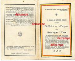 Oorlog Guerre Gesneuvelde Soldaten Van Loo Reninge 1914 1918 Diksmuide Hauspie Notredamme Loonis Sticker Depuydt - Images Religieuses