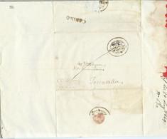 PREFILATELICA PONTIFICIO - 1849 Lettera Con Testo CANINO TOSCANELLA Timbro Postale E Sigillo MUNICIPIO - 1. ...-1850 Prephilately