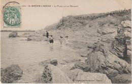 Loire  Atlantique :  SAINT  BREVIN  L '  OCEAN : La  Plage  Et  Les  Rochers - Saint-Brevin-l'Océan
