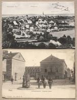 2 CP SAARUNION Totalansicht + METZ Ludwigskaserne - Caserne Coislin.  Occupation Allemande 1909 - Metz