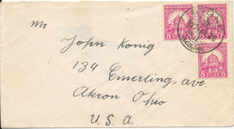 Hungary Cover Sent To USA Gyönk 26-4-1927 (hinged Marks On The Backside Of The Cover) - Brieven En Documenten