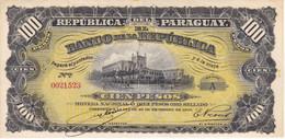 BILLETE DE PARAGUAY DE 100 PESOS DEL AÑO 1907 SIN CIRCULAR (UNCIRCULATED) (BANKNOTE) - Paraguay