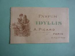 PUBLICITE  PARFUM IDYLLIS A. PICARD PARIS   (2020 Octobre 06) - Parfumkaarten