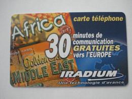 Carte Prépayée Française IRADIUM ( Utilisée ). 30 Minutes De Communication Gratuites - RARE. - Frankreich