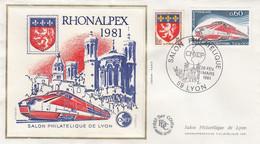 FRANCE -  FDC CNEP - RHONALPEX 1981    /1 - 1980-1989