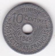 PROTECTORAT FRANCAIS. 10 Centimes 1945 Petit Module En Zinc - Tunisie