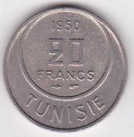 TUNISIE. 20 FRANCS 1950 (AH 1370). Copper Nickel - Tunisie