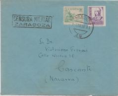 ISABEL SIN DENTAR - CENSURA ZARAGOZA - 1931-50 Cartas