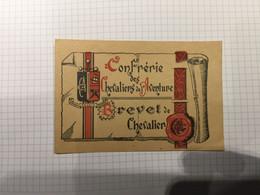 20BG - Carte De Membre Confrérie Chevalier De L'aventure  Bruxelles 1945 - Unclassified