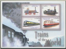 GAMBIA / MiNr. 5112 - 5115 / Lokomotiven Aus Aller Welt (II) / Postfrisch / ** / MNH - Trenes