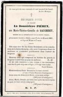 STALLE Sous UCCLE - Marie Thérèse De GAUCHERET - Douairière PIERET - Décédée 1865 - Andachtsbilder