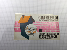 20BG - Ticket Entrée 10ème Salon Des Vacances Charleroi 1966 - Tickets - Entradas