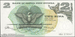 TWN - PAPUA NEW GUINEA 1a - 2 Kina 1975 Prefix ABJ - Signatures: ToRobert & Morauta UNC - Papua New Guinea