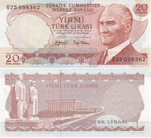 Turkey - 20 Lirasi 1970 Pick 187a(2) UNC Lemberg-Zp - Turquie
