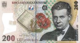 ROMANIA P. 122g 200 L 2015 UNC - Romania