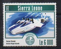 Necker Nymph, British Virgin Islands - Submarine Stamp (Sierra Leone 2015) - MNH (1W2032) - Submarines