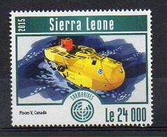 Pisces V, Canada - Submarine Stamp (Sierra Leone 2015) - MNH (1W2035) - Submarines