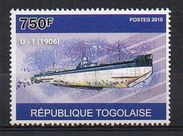 U-1 1906 - Submarine Stamp (Togo 2010) - MNH (1W2036) - Submarines