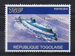 Koryu D 1945 - Submarine Stamp (Togo 2010) - MNH (1W2038) - Submarines