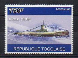 R Class 1918 - Submarine Stamp (Togo 2010) - MNH (1W2039) - Submarines