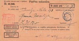 Slovenia SHS 1920 Postal Money Order With SHS Postage Due Stamp, Postmark TRBOVLJE - Slovenia