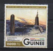 HMS VENGEANCE S31 Royal Navy Vanguard-Class - Submarine Warship Stamp (Guinea 2016) - MNH (1W2042) - Submarines