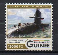 HAKURYU (White Dragon) SS-503 Soryu-Class - Submarine Warship Stamp (Guinea 2016) - MNH (1W2043) - Submarines