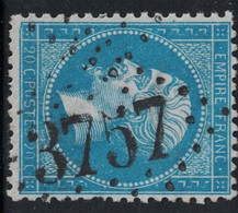 EMPIRE - N°22 - OBLITERATION - GC3757 - ST MARTIN DE VALAMAS - ARDECHE. - 1849-1876: Periodo Classico