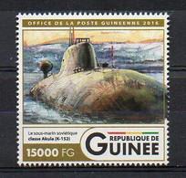 K-152 NERPA (INS CHAKRA) Akula-Class - Submarine Warship Stamp (Guinea 2016) - MNH (1W2044) - Submarines